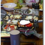 Raclette Grill belegt mit Kse