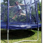 springen auf dem Trampolin