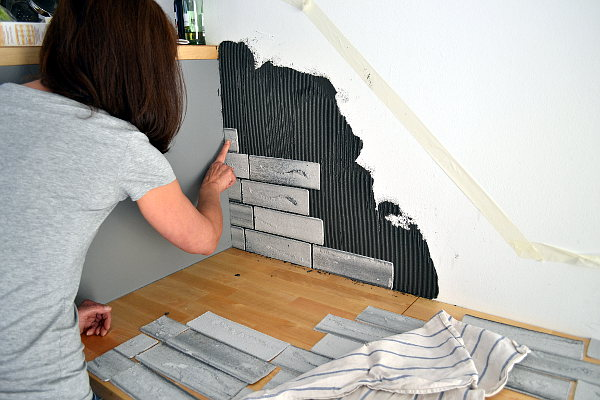 k chenr ckwand gestalten diy mit flachverblendern. Black Bedroom Furniture Sets. Home Design Ideas