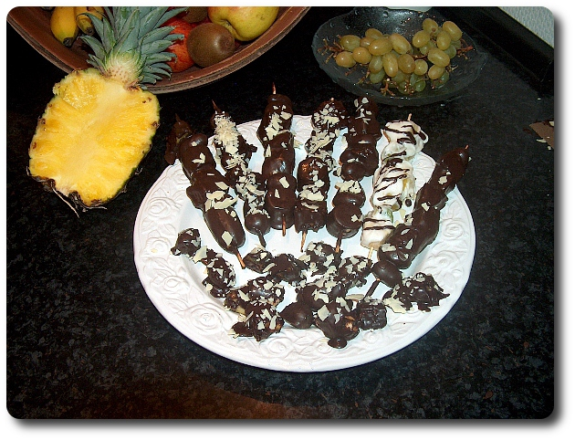 Schokoladen Fruchtspiesse