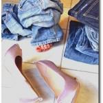 Jeans Hosen anprobieren
