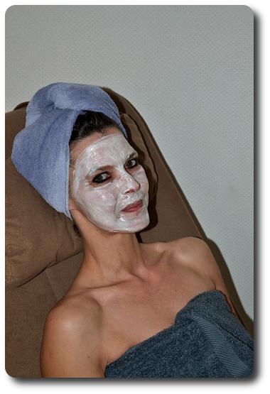 Maske aus Quark und Honig