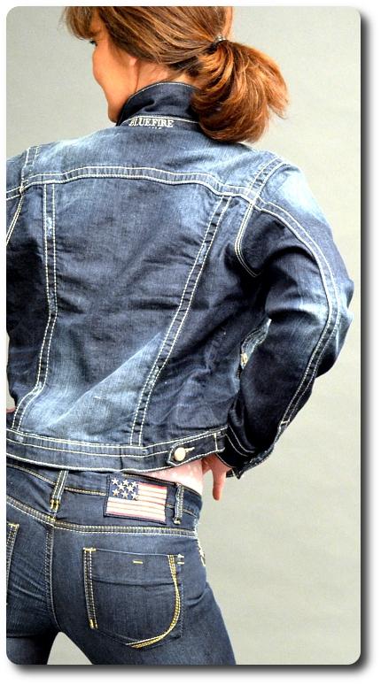 Blue Fire Jeans