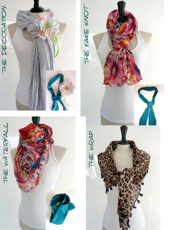 Ideen ein Tuch oder Schal zu binden