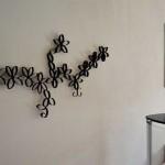 Wanddekoration basteln mit Klopapierrollen