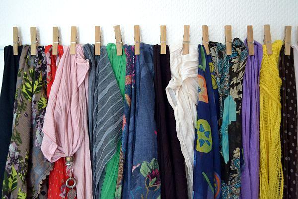 Schals & Tücher Aufbewahrung