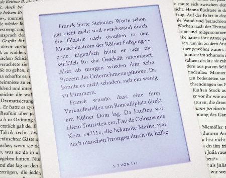 eBook Reader Schrift