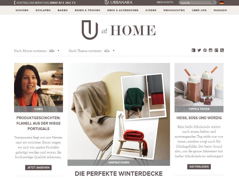 Screenshot Urbanara Magazin
